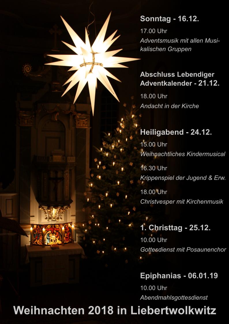 Ist Weihnachten Am 24 Oder 25.Weihnachten Ev Luth Kirchgemeinde Liebertwolkwitz